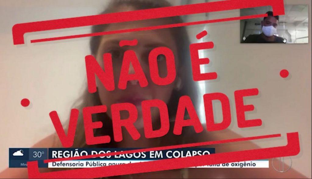 """Trecho de vídeo da Prefeitura foi encarado como """"desqualificação"""" pela Defensoria   Foto: Prefeitura de Arraial do Cabo/Reprodução"""