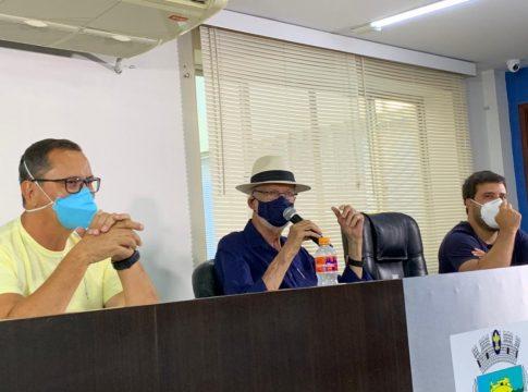 Prefeitura de Cabo Frio realizou coletiva de imprensa nesta segunda-feira (12) | Foto: Renata Cristiane/Portal RC24h