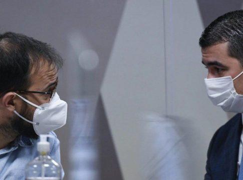 Luis Miranda e Luis Ricardo depuseram à CPI da COVID no Senado nesta sexta-feira (25) | Foto: Jefferson Rudy/Agência Senado